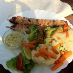 Grilled Trout with Vegetable