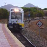 The train arriving at Los Nietos Station