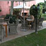 Breakfast area in veranda