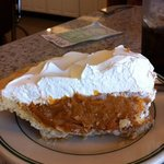 Butterscotch pie at Blue's Cafe