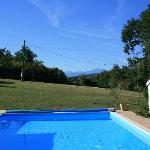 Pool and the mountains