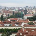View of the hotel from Prague castle
