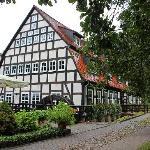 Hauptgebäude (ehem. Mühle) mit Restaurant