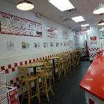 Five Guys hightop table dining