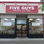 Exterior of Five Guys Rehoboth Avenue
