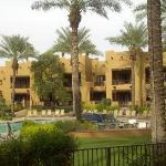 View of the Oasis suites & pool