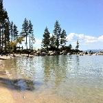Sand Harbor. Water warm enough to dangle our toes