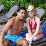 At pool with Omar :)