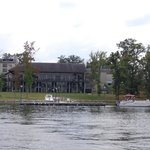 A view of the Inn from the lake