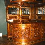 The bar area in the prviate room upstairs. Available for reservations.