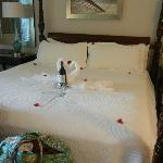 The bed, good turndown service.