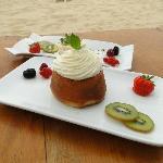 Aqua Club à Ramatuelle : dessert servi au restaurant