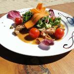 Aqua Club à Ramatuelle : plat servi au restaurant