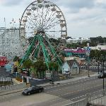 Daytime view of the ferris wheel from balcony