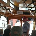 Forest Gump on trolley tour