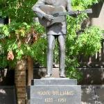 Hank statue a couple blocks away