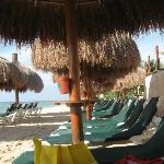 Beach and chairs.