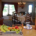 Dinning at the Parent FarmHouse