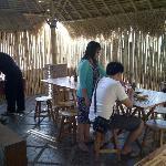 The bamboo breakfast room