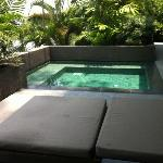 private refreshing plunge pool of the villa
