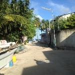 On the way to the Maafushi beach from the hotel