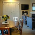 Dining room, murphy bed in the background