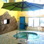 Water park hot tub