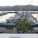 Herrlicher Blick auf die Marina