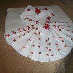 décor fait avec des serviettes