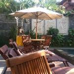 Sun lounges, garden