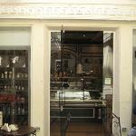 The entrance of the cake shop