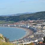 cable car and awesome view of Llandudno