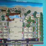 plan de l'hotel coté plage
