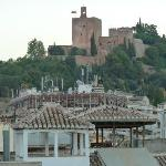 View of Alhambra from rooftop terrace
