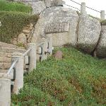 Steps hewn from the rock