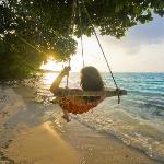 Beach area swing