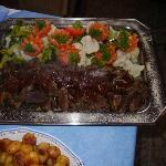 Rentierbraten, Rinderbraten mit Gemüse