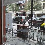 View of street from dining area