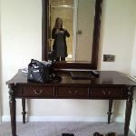 Dressing table with mirror.