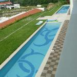 Swim up pool for swim up rooms
