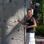 Oscar G.O. au mur d'escalade