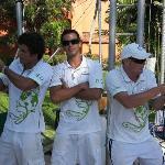 Joe, Ronaldo, Garreth G.O. au trapèze