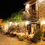 The restaurant at night - so atmospheric
