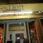 Cooling down outside the Spice Root