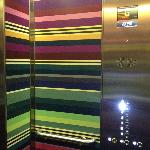 Even the lift is completely in style with the rest of the hotel