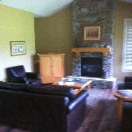 The cozy living room of our Peregrine Cottage