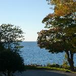 view of Lake Michigan from our balcony