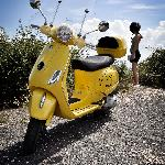 Vespas look great and make you even more photogenic!