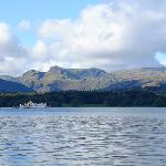 A view from the boat in Lake Windermere.