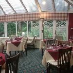 The conservatory (dining between 6pm & 9pm everyday) no dogs allowed